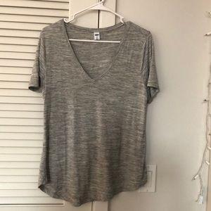 soft gray v neck